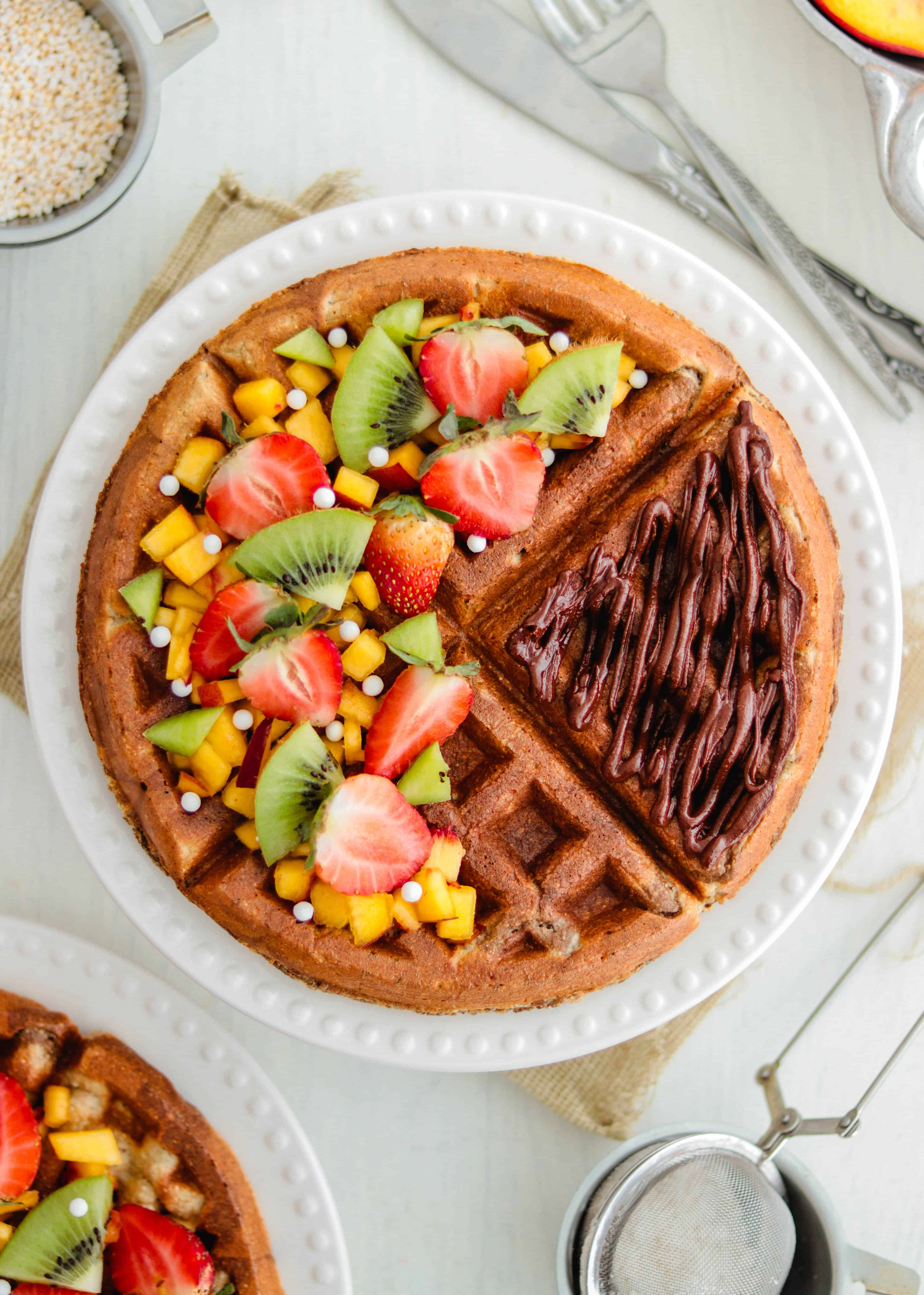 Vegan Oatmeal Waffles Recipe