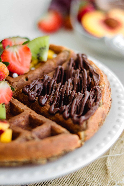 Waffles Veganos de Avena