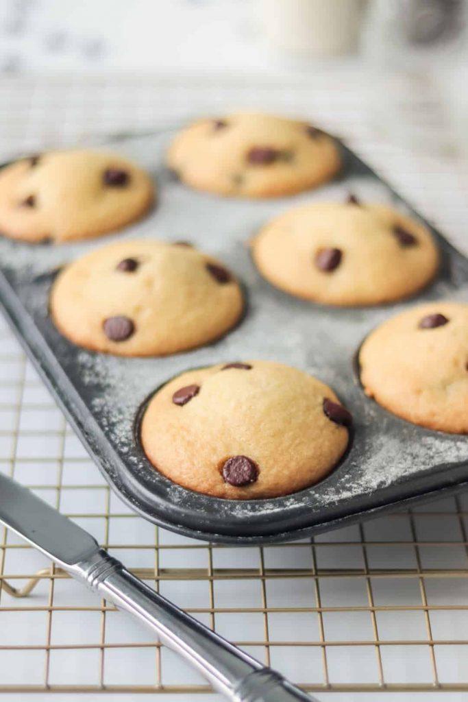 Muffins Veganos con Chispas de Chocolate