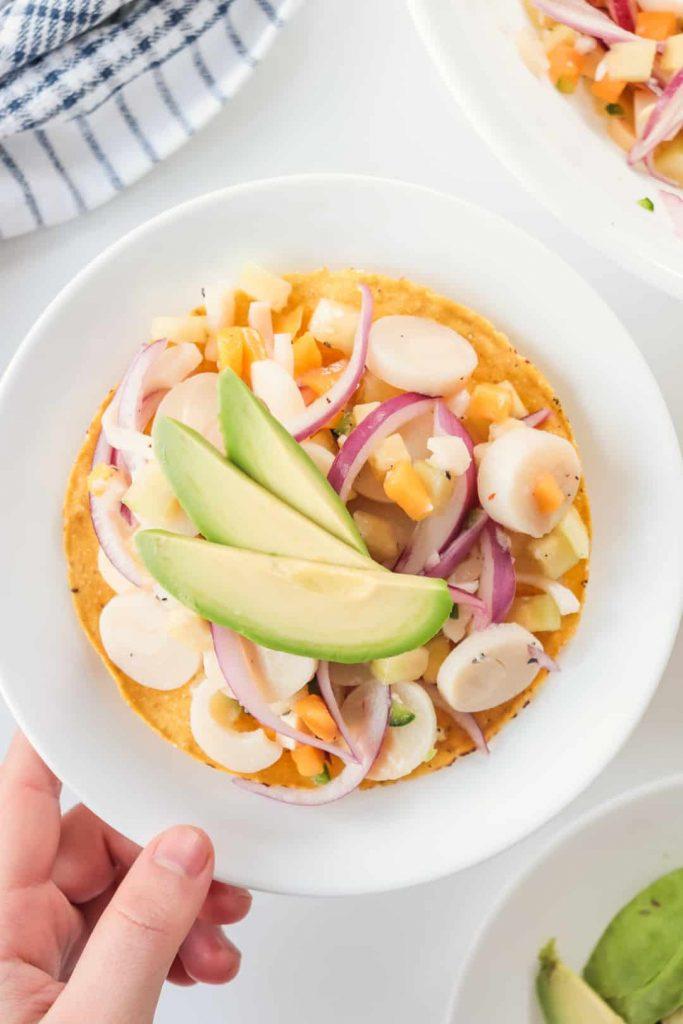 Ceviche Vegano de Palmitos y Mango