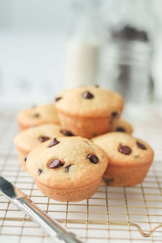 Muffins Veganos Esponjosos con Chispas de Chocolate