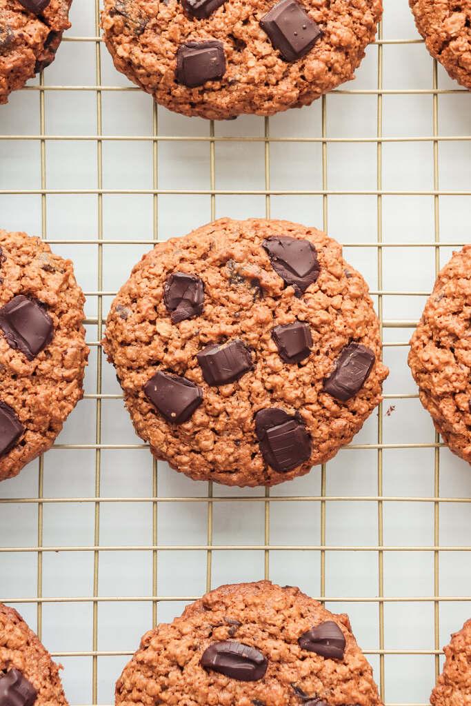 Galletas Veganas de Avena con Trozos de Chocolate